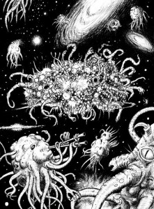 "HP Lovecraft's Azathoth at the center of Ultimate Chaos.  ""Azathoth"". Licensed under CC BY-SA 3.0 via Wikimedia Commons."