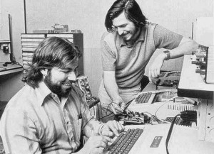 The iconic Jobs and Wozniak Apple II photo