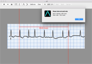 Measuring mean rate and interval on a Mac